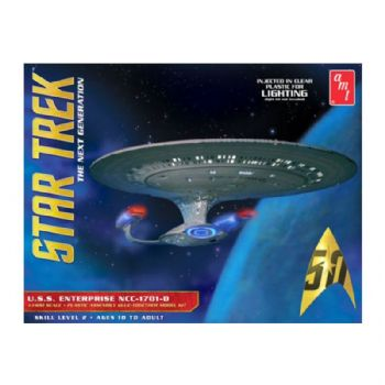 STAR TREK USS ENTERPRISE D (CLEAR EDITION) MODEL KIT BY AMT